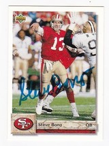 STEVE BONO AUTOGRAPHED CARD 1992 UPPER DECK SAN FRANCISCO 49ers - $5.88