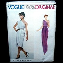 Vintage 80s Givenchy Vogue Paris Uncut Pattern 2307 Draped Greek Goddess... - $79.99