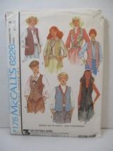 McCall's Pattern 6226 Miss Size B 8 10 12 Vests  D Reversible Vintage 19... - $12.86