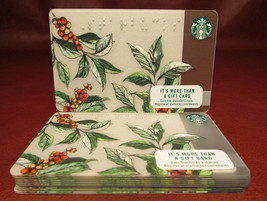 Lot of 11 Starbucks 2016 Coffea Braille Gift Cards New with Tags - $44.60