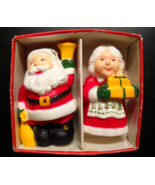 McCrory Salt and Pepper Shakers 1986 Mr and Mrs Santa Claus Made In Hong... - $9.99