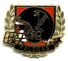 NFL Licensed Football Pin Atlanta Falcons Crest Pin - $5.00