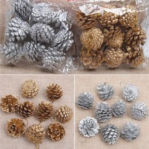 Wooden Pine Cones Christmas Tree Hanging Decorations Ornament 9 Pieces P... - €6,20 EUR