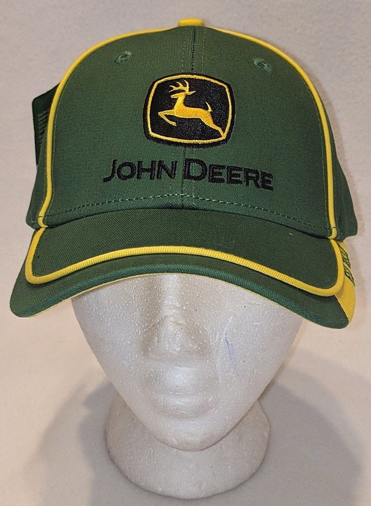 John Deere LP67010 Green Adjustable Baseball Cap With Leaping Deer Logo