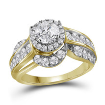 14kt Yellow Gold Round Diamond Solitaire Bridal Wedding Engagement Ring ... - $5,691.00