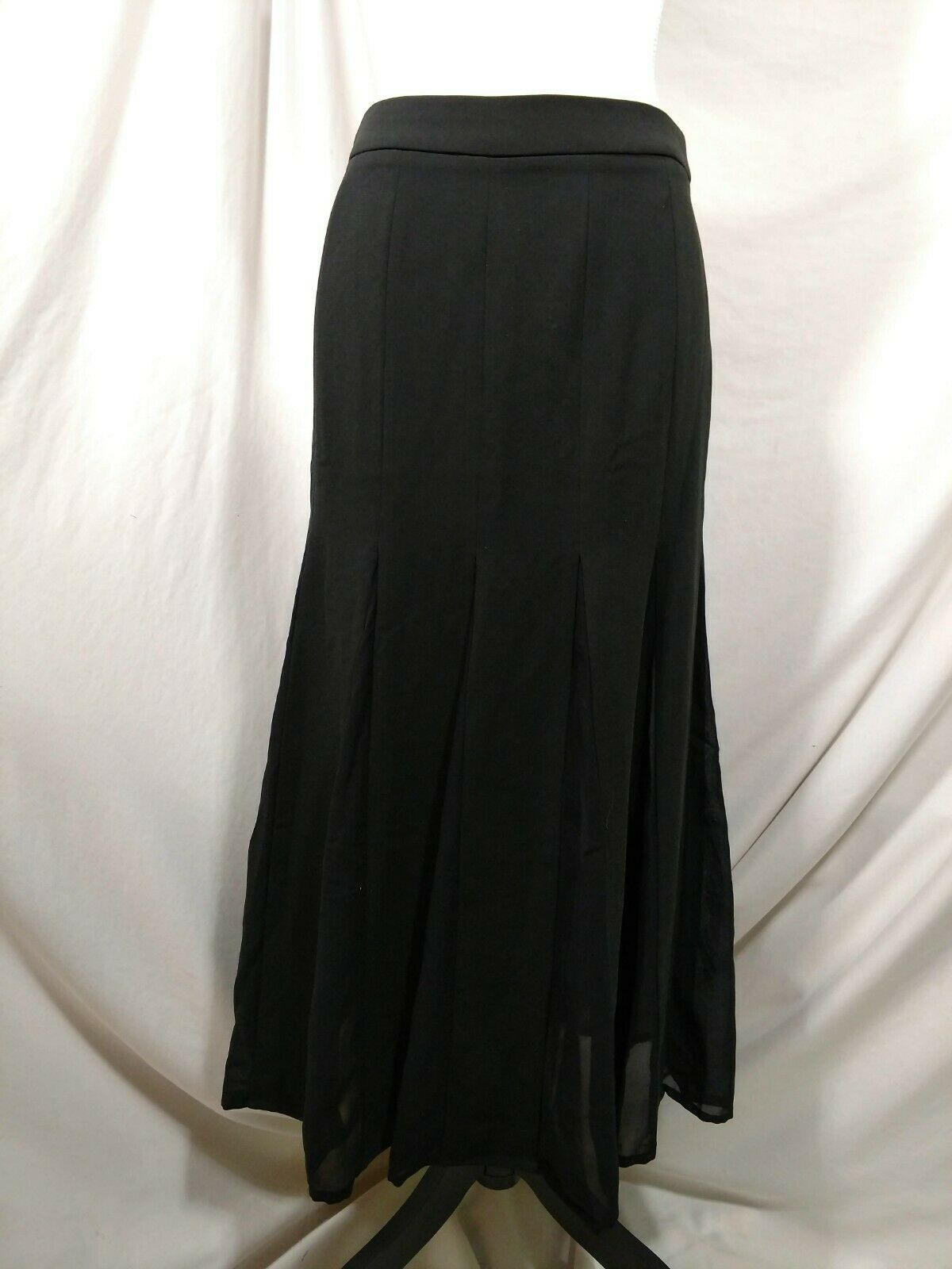 "STYLEWE Black Skirt Medium ""XL"" Flowy Fit & Flare SHANGMAN 6 8 Maxi Long Modest image 2"