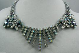 Vintage Aurora Borealis & Purple Crystal stones Necklace $0 sh WOW! - $75.24