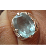 Cocktail Genuine Sterling Real Aquamarine Ring 40.82 Carats avlb - $50.00