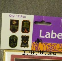 12 Halloween Treat Labels Treat bag Labels Potion Bottle Labels Vampire Witch  image 2