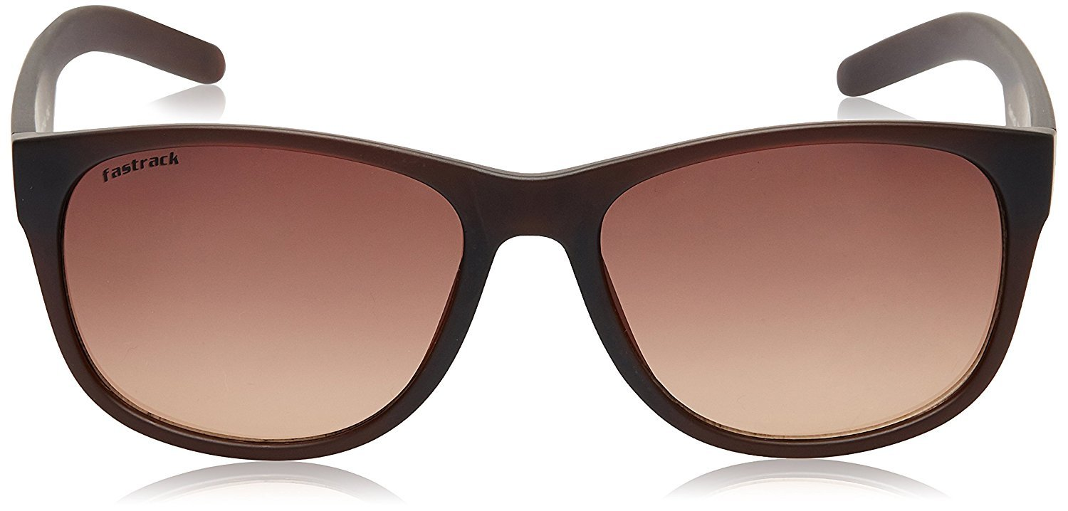 Fastrack UV Protected Wayfarer Unisex Sunglasses - (P329BR1|57|Brown Color)