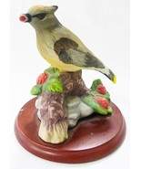 America's favorite songbirds cedar waxwing figurine with base - $20.03