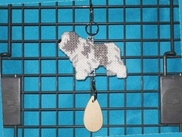 Polish Lowland Sheepdog dog crate tag or decor, hang it anywhere, handma... - $19.00