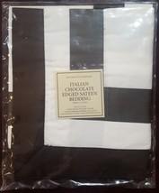 "NWT  Restoration Hardware ""Chocolate Edged"" Graphite Euro Pillow Sham  - $25.69"