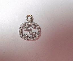 Gucci Diamond Britt Double G 4 Necklace Twirl Icon Logo Pendant With Bale - $2,133.03