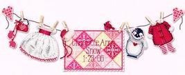 Winter Baby Girl Sunshine Lane Birth Sampler Chart only cross stitch Brooke Book - $7.20