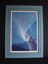 "Wolf Print- ""Singing to Norther Light "" by Tok Hwang Signed, Ltd Ed. Ala... - $26.99"