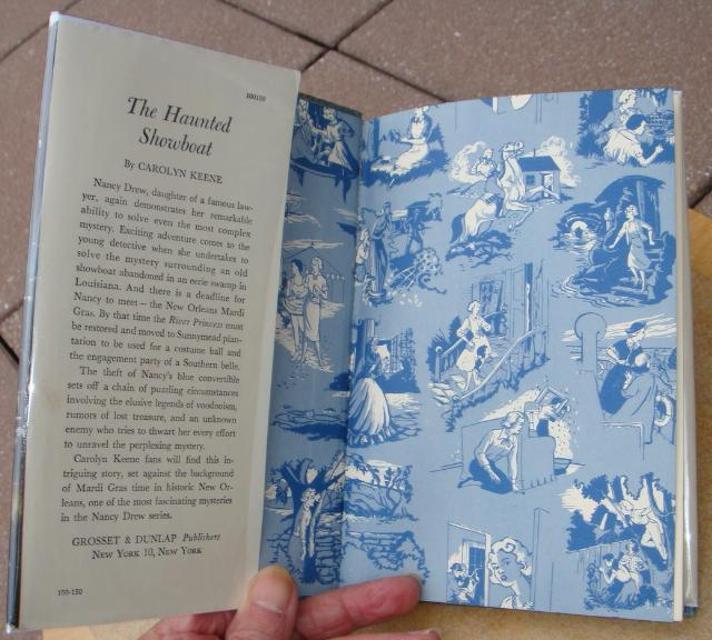 Nancy Drew 35 The Haunted Showboat 1959D-6 hcdj