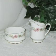 Paragon Belinda Cream & Sugar Bowl Fine Bone China Pink Flowers Floral Creamer - $39.95
