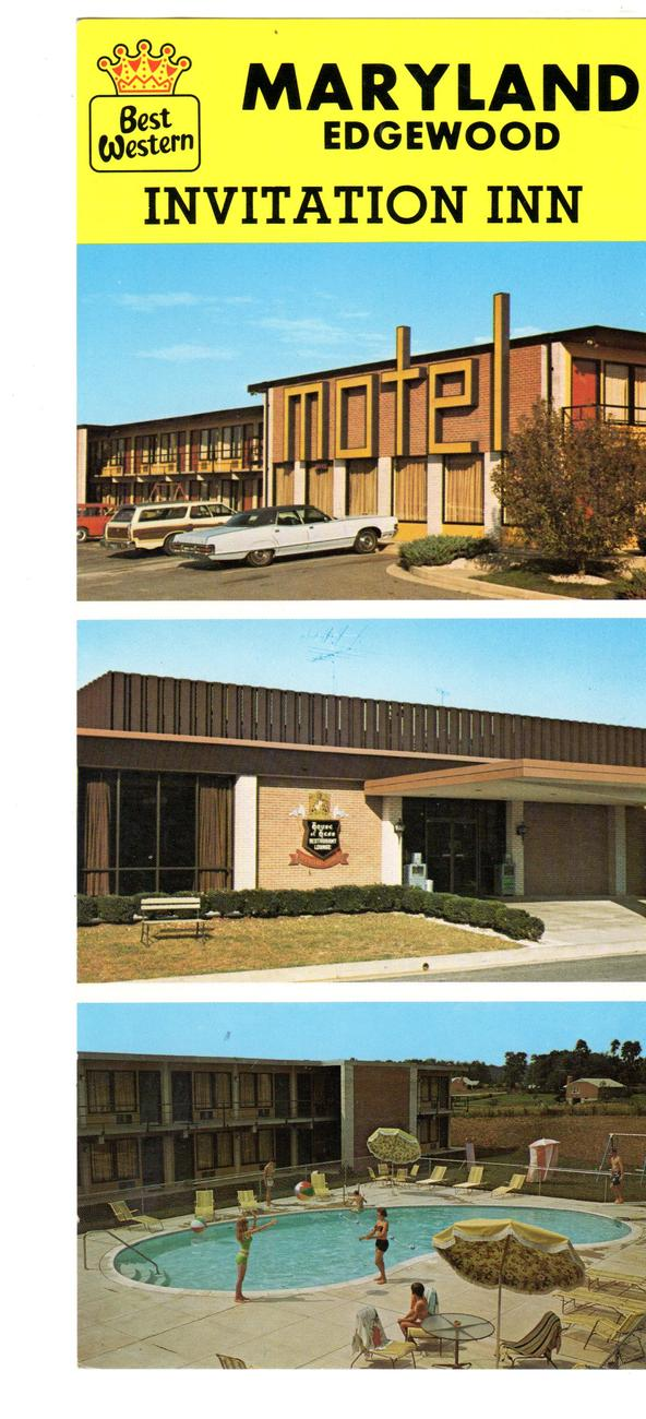 Maryland Edgewood Invitation Inn, Best Western  (1960's)