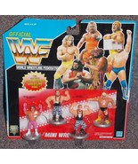 1991 Hasbro WWF Wrestling Mini Figures 4 Pack New In The Package - $34.99