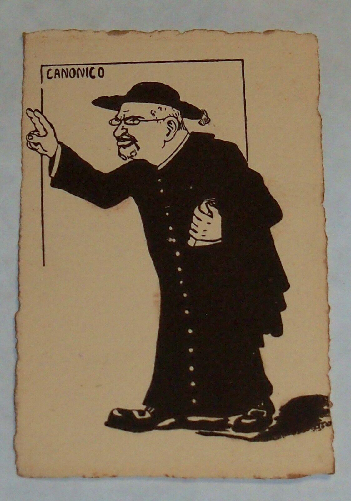 Comic Political Postcard 1900's Italy Cartolina Italia Signed Rare