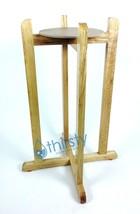 "Water Crock Floor Stand Natural Wood Vase Faucet Spigot Dispenser 27"" New - $39.58"