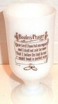 Bowlers Prayer Pedestal Mug Coffee Cup White Milk Glass 1967 VINTAGE - $14.85