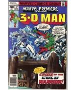 Marvel Premiere Comic Book #37, The 3-D Man 1977 FINE+ - $3.75