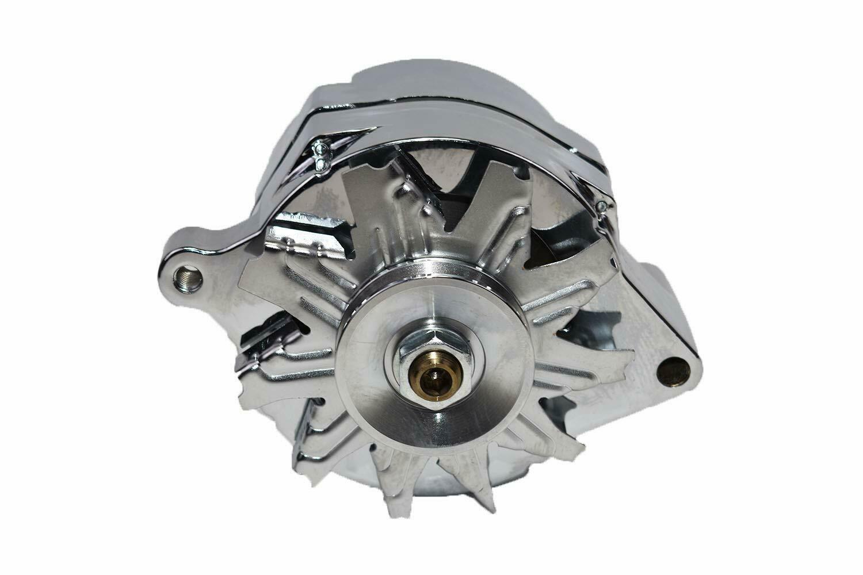 SB Ford 65-89 Mechanical Fuel Pump Two Valve M1G Style Alternator 110 Amp Chrome