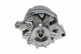 SB Ford 65-89 Mechanical Fuel Pump Two Valve M1G Style Alternator 110 Amp Chrome
