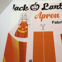 Jack O Lantern Apron Panel Fabric Traditions Halloween 100% Cotton Pumpkin - $8.79