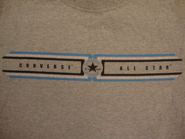 Converse All Star Chuck Taylor Official Apparel Gray Distressed T Shirt M - $15.63