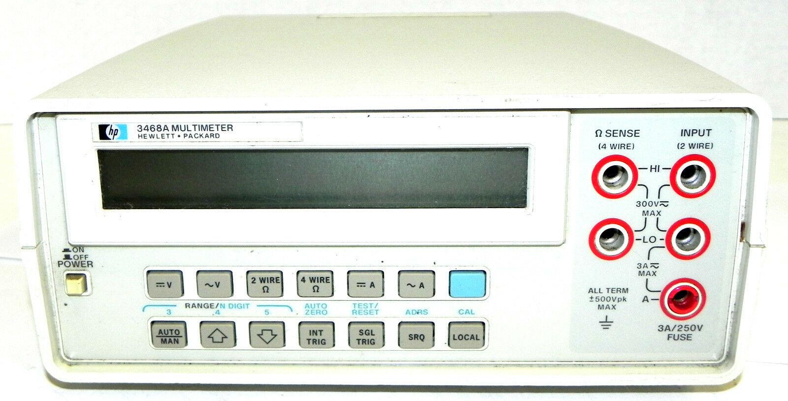 HP HEWLETT-PACKARD 3468A MULTI METER