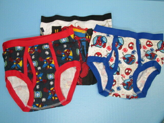 Primary image for Marvel Spiderman 3 pair brief underwear SIZE 6 BRAND NEW!
