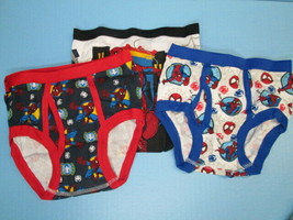 Marvel Spiderman 3 pair brief underwear SIZE 6 BRAND NEW! - $6.88
