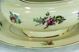 Household Institute Homer Laughlin Priscilla Gravy Boat With Under Plate N1639 image 2
