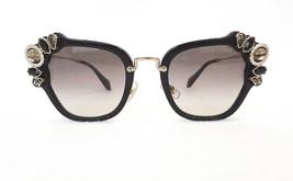Miu Miu Women's Sunglasses MU03SS 1AB0A7 140 Black Made In Italy - New! - $199.95