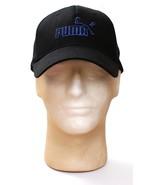 Puma Black Logo Stretch Fit Cap Hat Adult One Size  NWT - $25.98