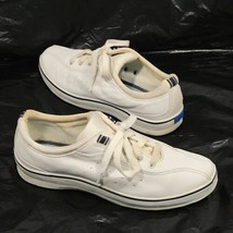 Keds White Navy Blue Canvas Classic Tennis Shoes Sneakers 7 - $22.95