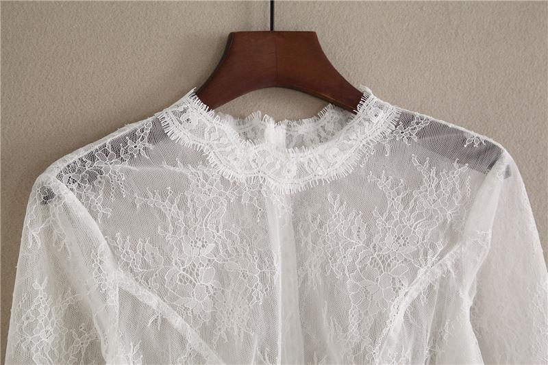 Bridesmaid lace tops crop 2