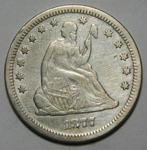 1877CC Seated Liberty Silver Quarter Coin Lot# MZ 4338