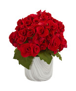 Begonia Artificial Arrangement in Vase - $58.70