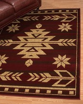 Southwestern Lodge Western Cabin Rustic Tribal Red Area Rug **FREE SHIPPING** - €48,22 EUR+