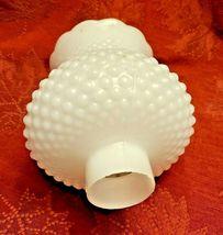 "Vintage 5-1/4"" Deep White Milk Glass Hobnail Lamp Shade Globe 1-5/8'' Fitter  image 7"