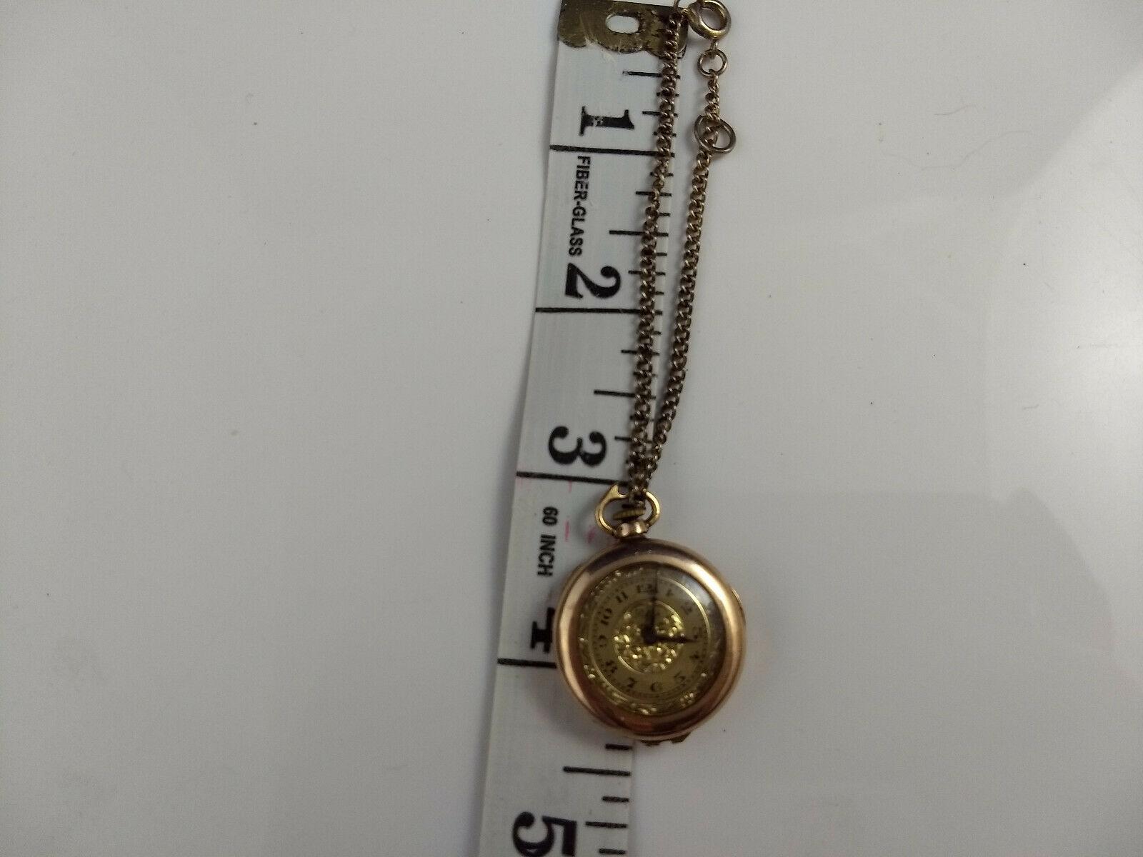 vtg WADSWORTH RELGIS HELBROS W & CO 15j 10k GOLD FILLED POCKET WATCH Swiss rare image 4