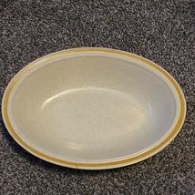 Hearthside Garden Festival Prairie Flowers Stoneware Yellow Oval Vegetable Bowl - $19.99