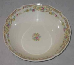"Neat Vintage 8 1/2"" Vegetable Bowl Flowers - $34.40"