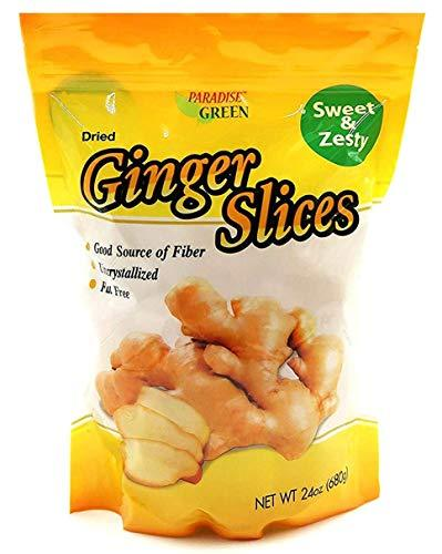 Primary image for Paradise Green Premium Quality Dried Fruit Family Size Pack (Ginger Slices 24oz)