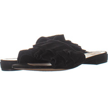 Nine West Ivarene Ruched Slide Sandals, Black/Black 009, Black/Black, 6.... - $18.23