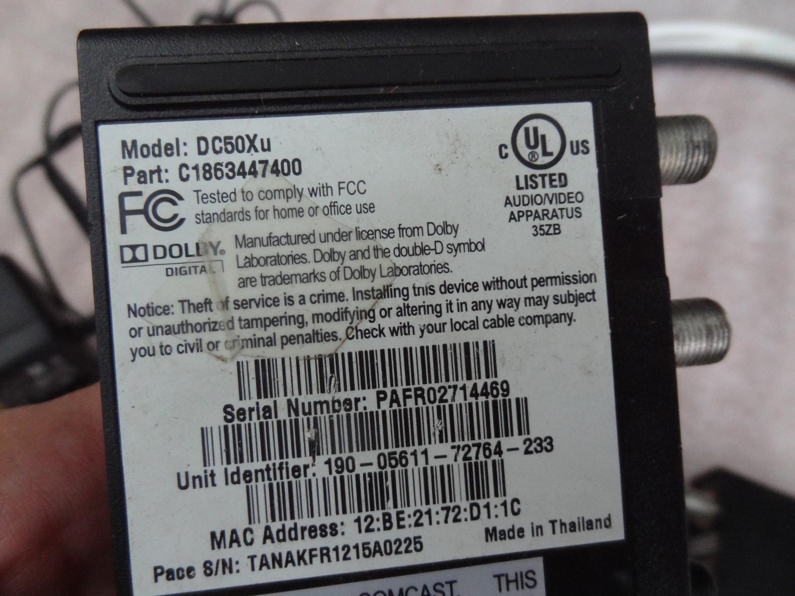 Lot 2 Comcast Xfinity DC50XU Digital and 50 similar items